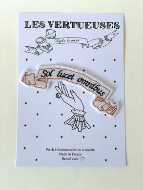 """Patch thermocollable """"Sol Lucet omnibus"""" - Le soleil luit pour tout le monde"""