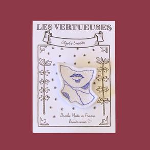 Broche Vénus saphir