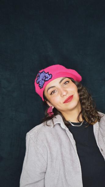 Béret Rosaire pink
