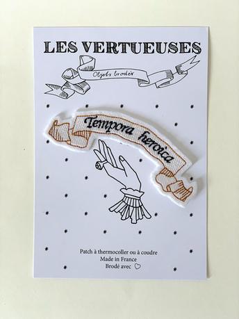 "Patch thermocollable ""Tempora heroica"" - Temps héroïques"