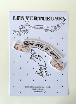 """Patch thermocollable """"Rara avis in terris""""- Oiseau rare sur la terre"""