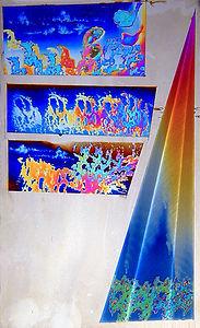 Niobium sponge painting
