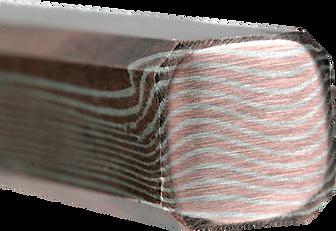 sterling copper mokume rod