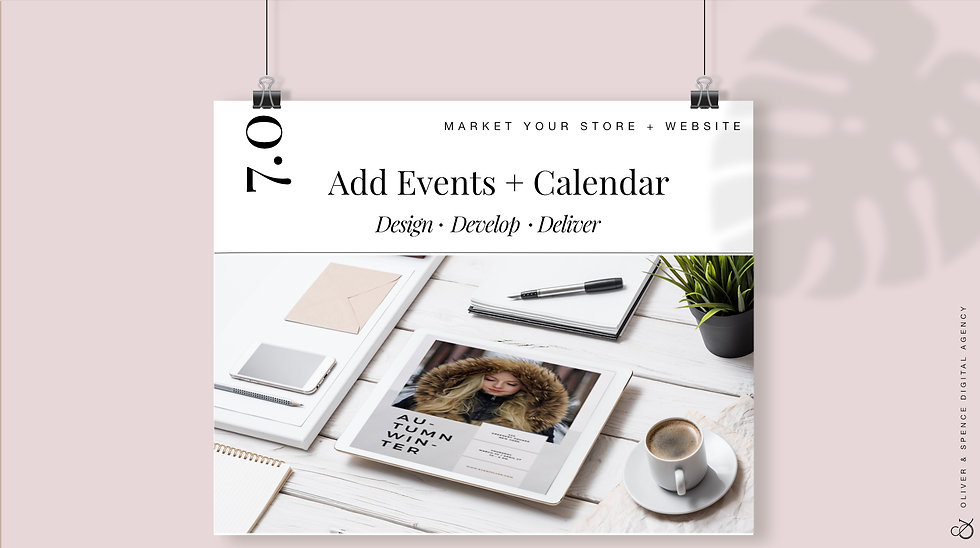 Add Event Calendar + Events