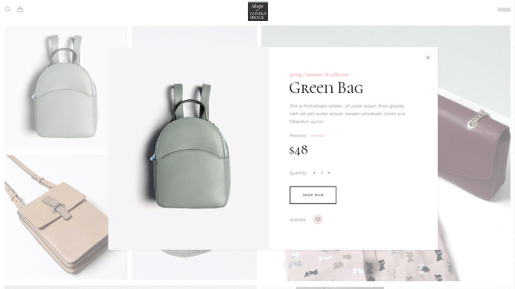 Shops by Oliver Spence Online Product Po