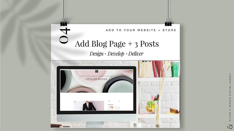 Add a Blog + 3 Blog Posts
