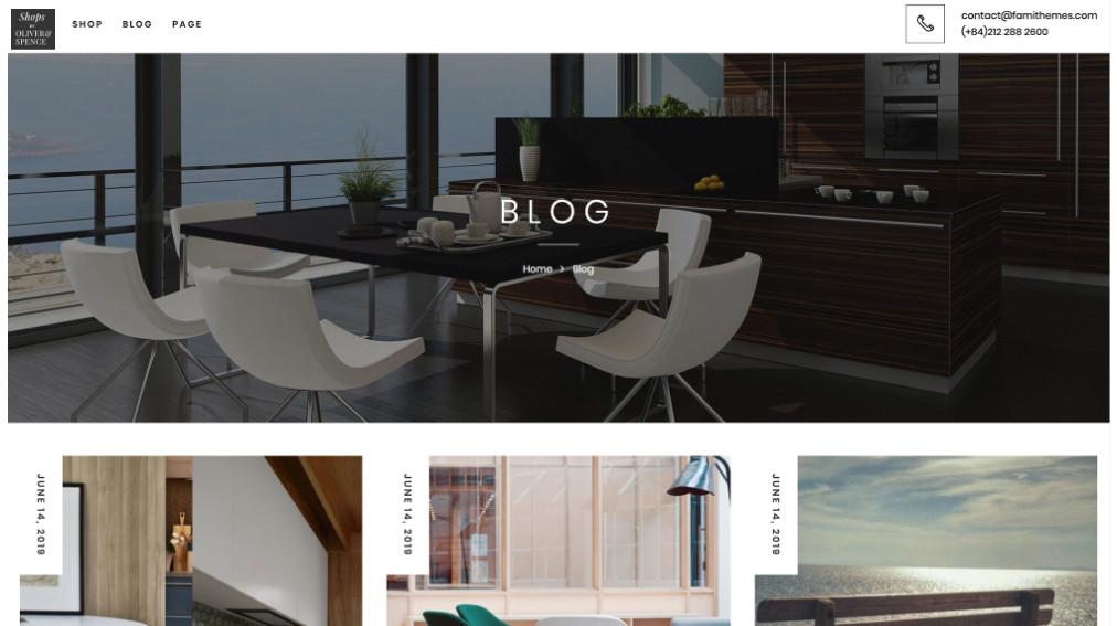 Shops by Oliver Spence Online Store Blog