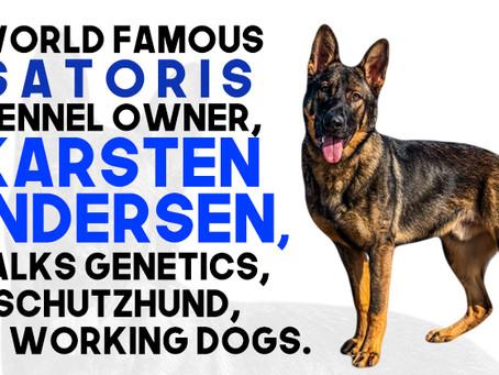 World famous Satoris Kennel owner, Karsten Andersen, talks genetics, Schutzhund, and working dogs.