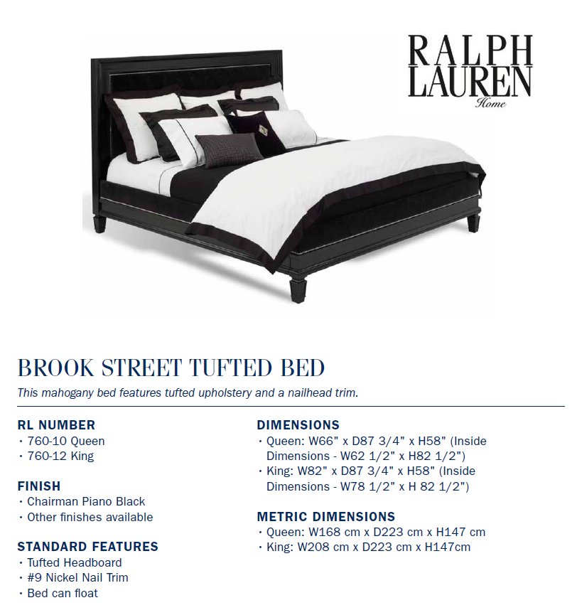 760-12 BROOK STREET TUFTED BED