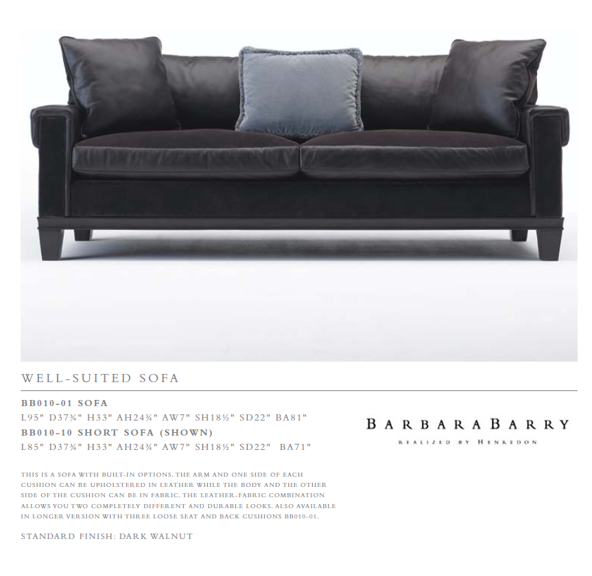 BB010-01 We l l - s U i T e d sofa