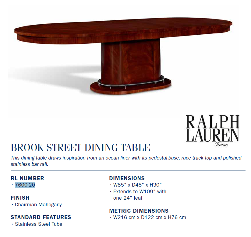 7600-20 brook street Dining TABLE