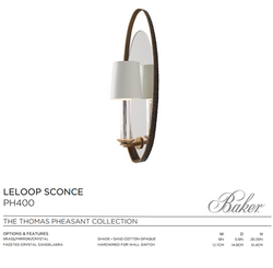 PH400 LELOOP SCONCE
