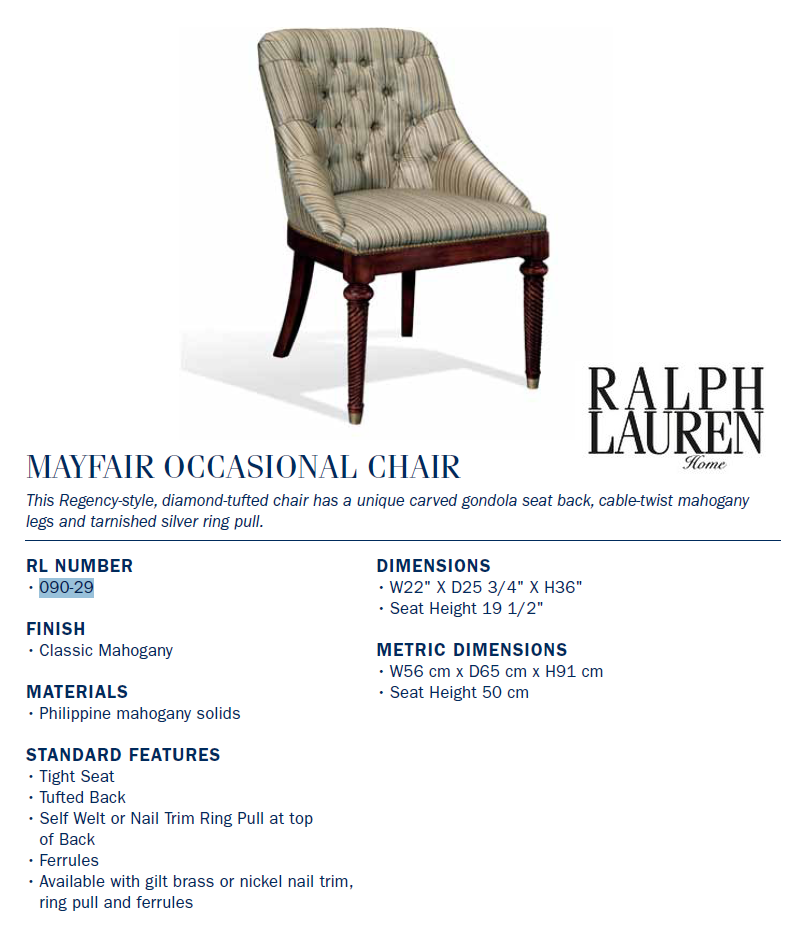 090-29 mayfair occasional chair