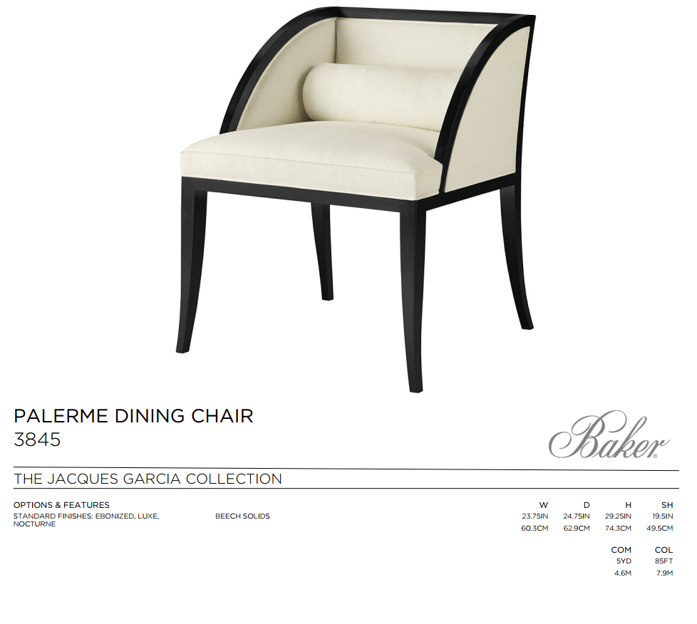 3845 PALERME DINING CHAIR