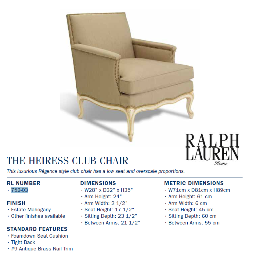 752-03 The Heiress Club Chair