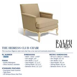 752-03 The Heiress Club Chair