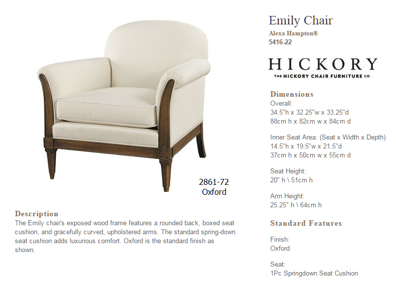 5416-22 EMILY CHAIR