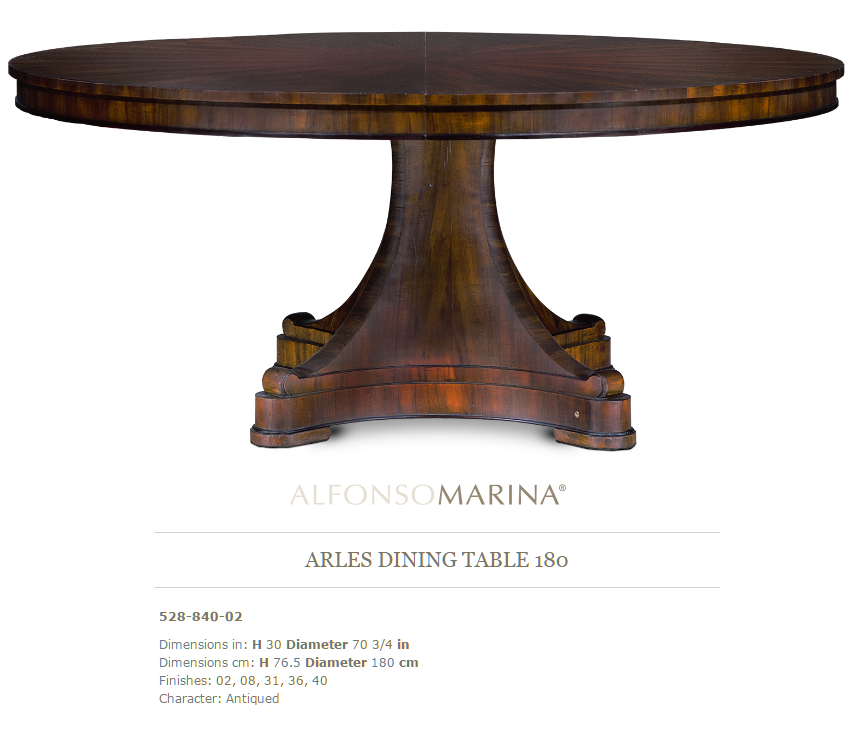 528-840-02 ARLES DINING TABLE