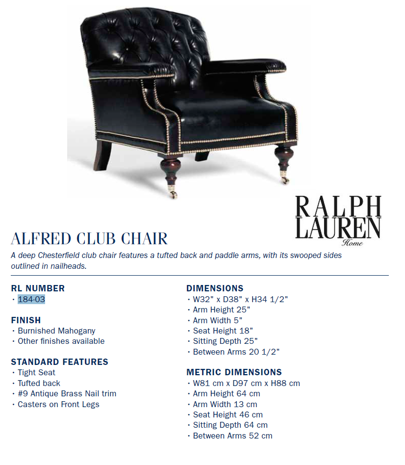 184-03 alfred club chair
