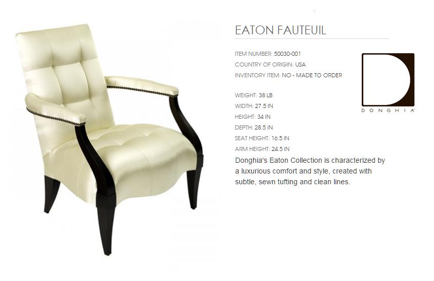 50030-001 EATON  FAUTEUIL