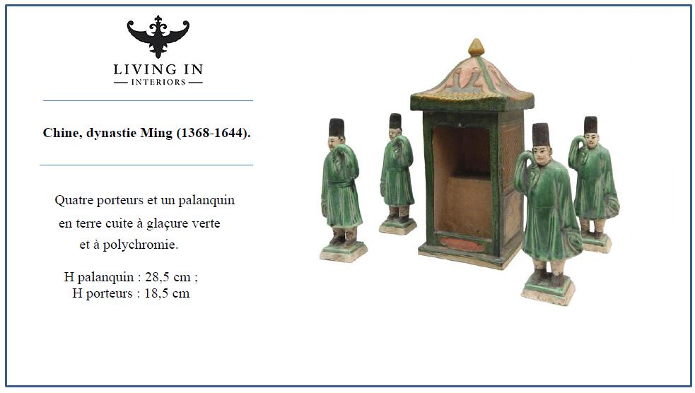 Quatre porteurs Chine, dynastie Ming (1368-1644)