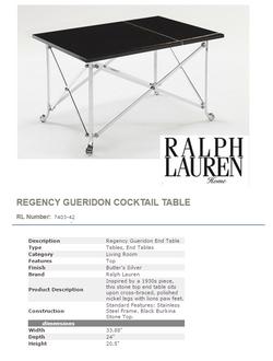 7403-42 REGENCY GUERIDON END TABLE