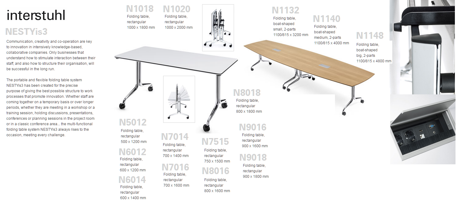 NESTYis3 FOLDING TABLES