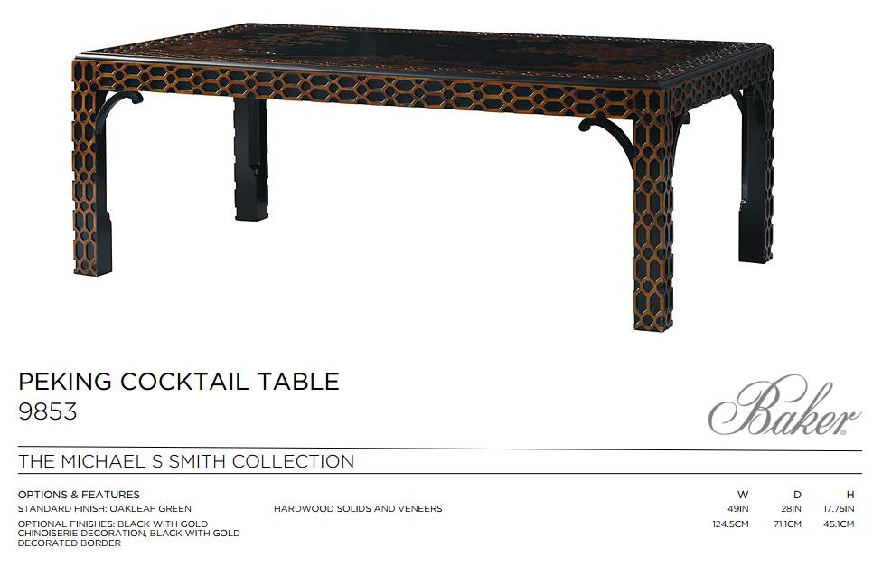 9853 PEKING COCKTAIL TABLE