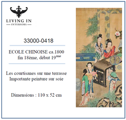 33000-0418 Ecole chinoise ca.1800 - Les courtisannes