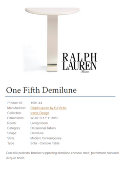 4601-44 One Fifth Demilune