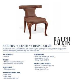 021-28 modern equestrian dining chair