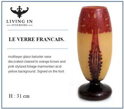 MULTI LAYER GLASS VASE LE VERRE FRANCAIS