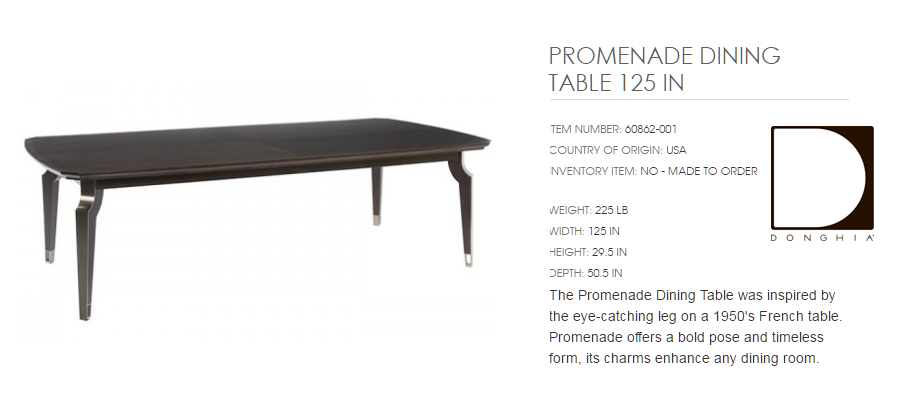 60862-001 PROMENADE DINING TABLE