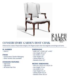 020-28 conservatory garden host chair