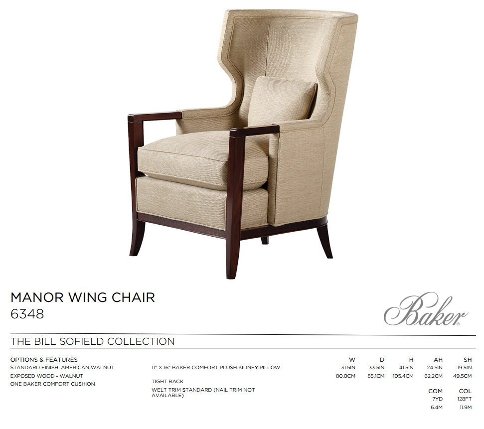 6348 MANOR WING CHAIR