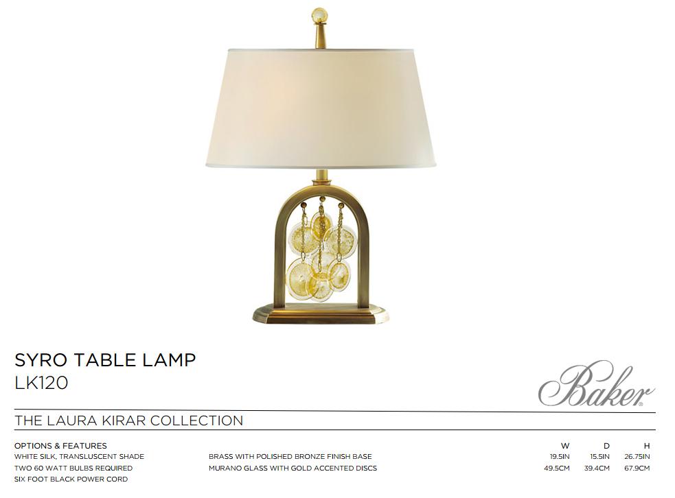 LK120 SYRO TABLE LAMP