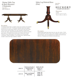 2469-70 RICHMOND DOUBLE PEDESTAL DINING TABLE