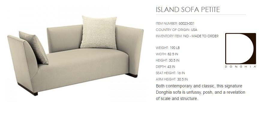 60023-001 ISLAND SOFA PETITE