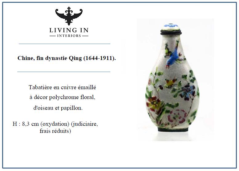 d'oiseau et papillon Chine, fin dynastie Qing