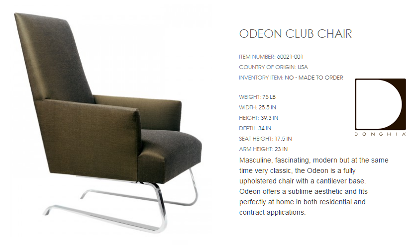 60021-001 ODEON CLUB CHAIR