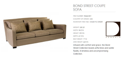 50424-001 BOND STREET COUPE SOFA