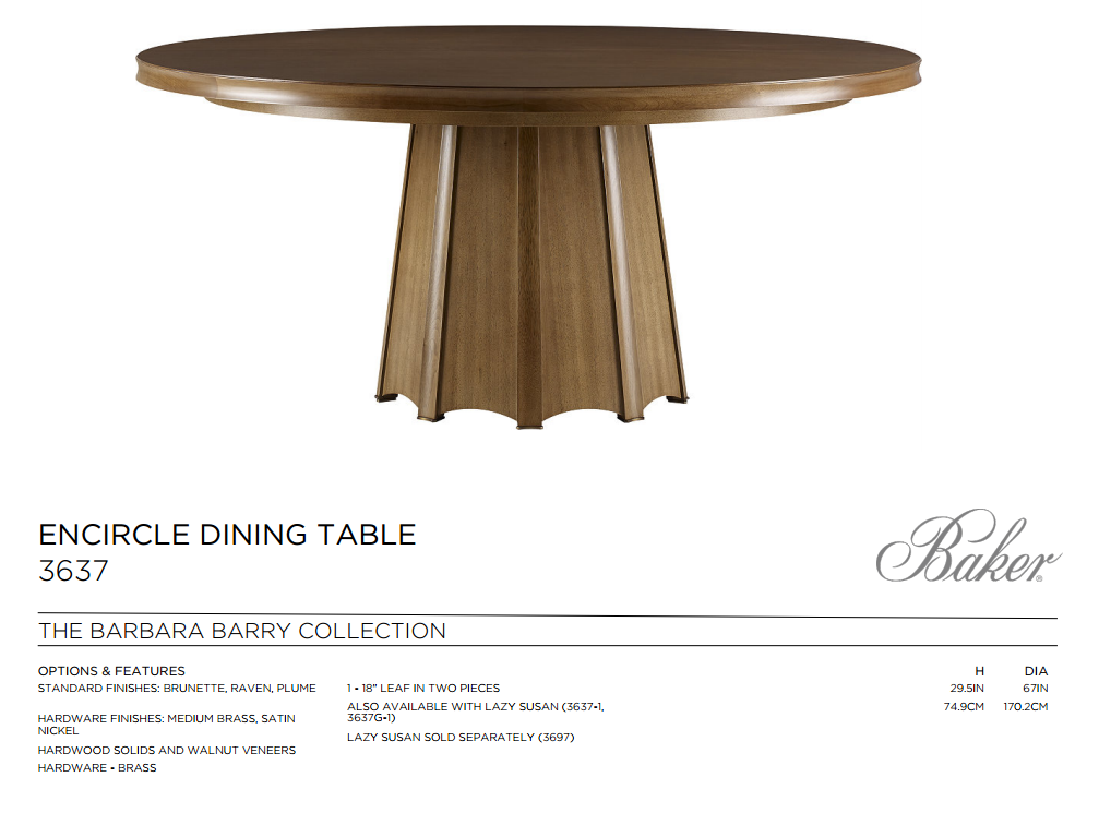 3637 ENCIRCLE DINING TABLE