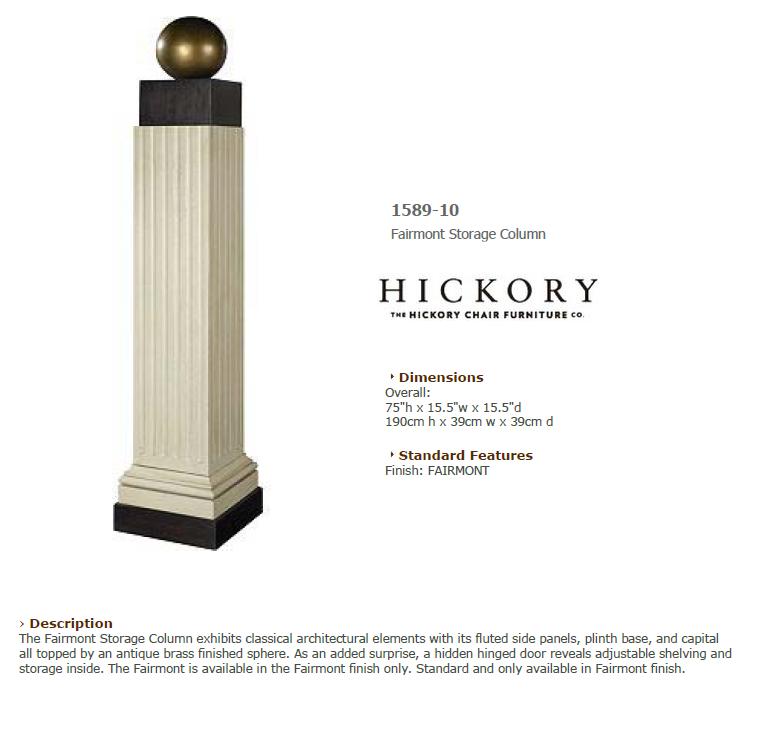 1589-10 Fairmont Storage Column