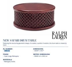 1881-42 new safari drum table