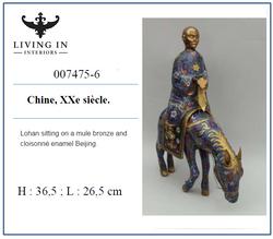 007475-6 Lohan assis sur une mule 20c