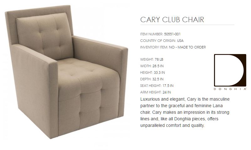 50551-001 CARY CLUB CHAIR