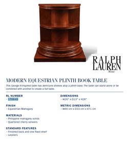 1706-43 modern equestrian plinth book table