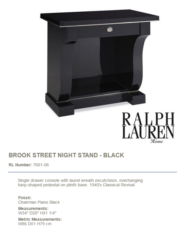 7601-06 BROOK STREET NIGHT STAND - BLACK