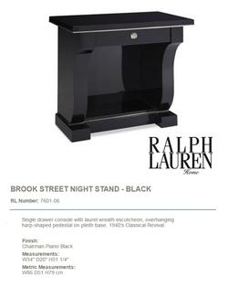 7601-06 BROOK STREET NIGHT STAND - BLACK