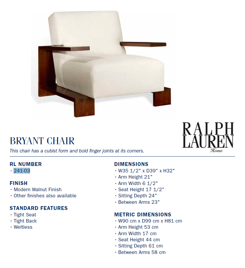 241-03 bryant chair